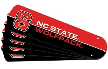 """New Ncaa Nc State Wolfpack 42"""" Ceiling Fan Blade Set"""