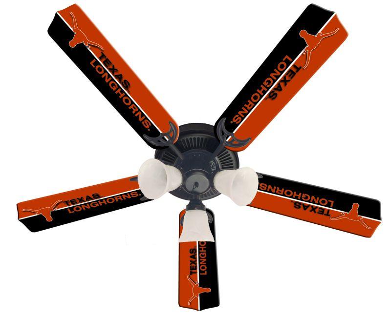 """New Ncaa Texas Longhorns 52"""" Ceiling Fan"""