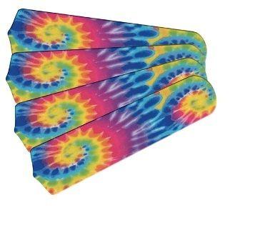 """New Psychedelic Tye Dye 42"""" Ceiling Fan Blades Only"""