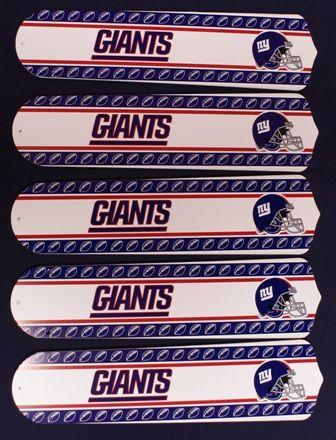 Ceiling Fan Designers NFL New York Giants Fan/Blades