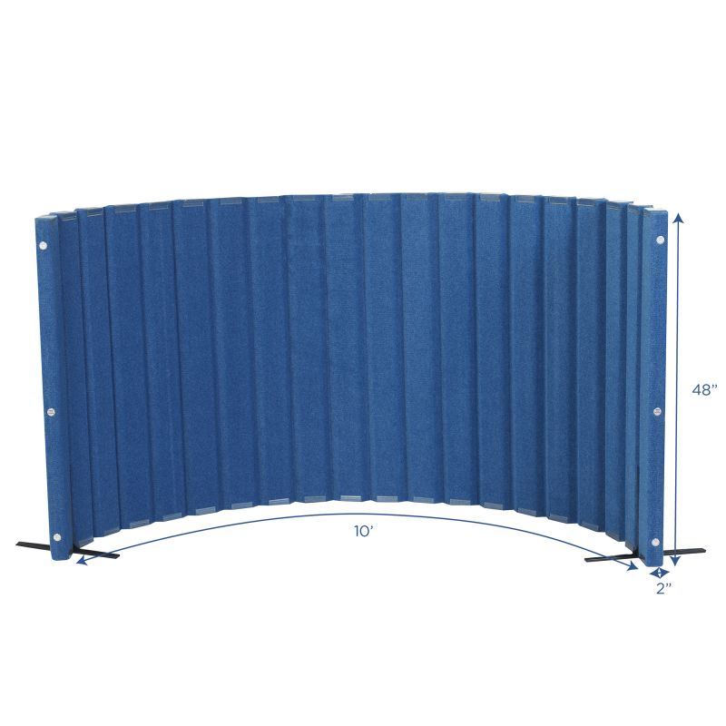 Quiet Divider® With Sound Sponge® 48″ X 10′ Wall – Blueberry