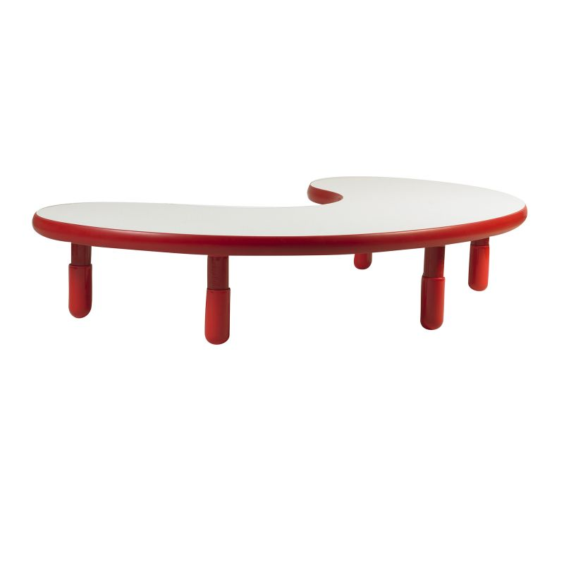 Baseline® Teacher/Kidney Table – Candy Apple Red With 12″ Legs