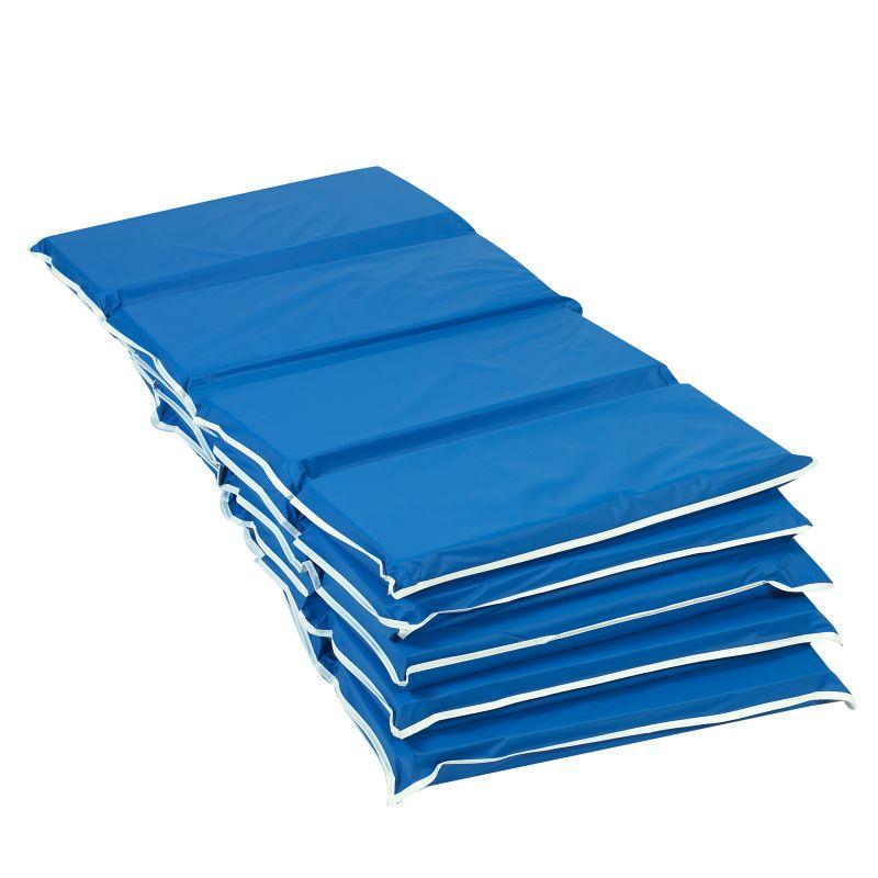 2″ Tough Duty Folding Mat – Blue 5 Pack