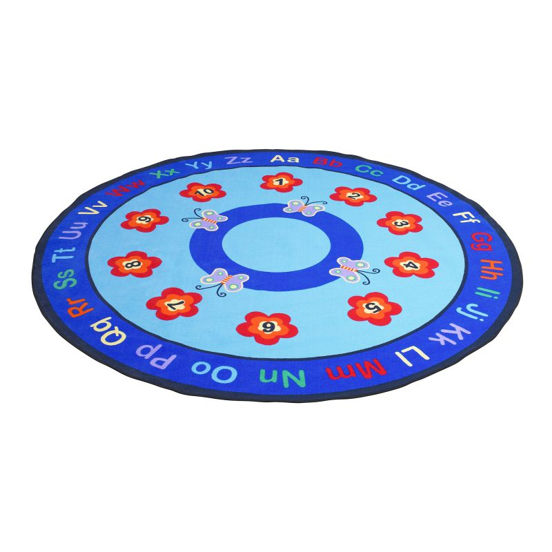 Butterflies Educational Rug – Round Large