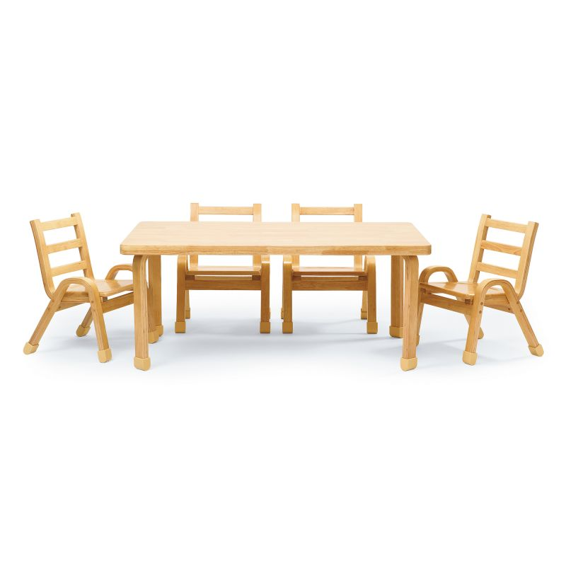 Naturalwood™ Collection Preschool Rectangle Table & Chair Set