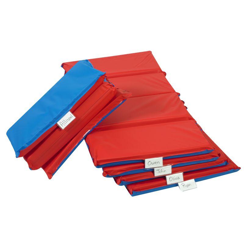 Angels Rest™ Nap Mat 2″ – Red/blue 4-section Folding Mat – 5 Pack