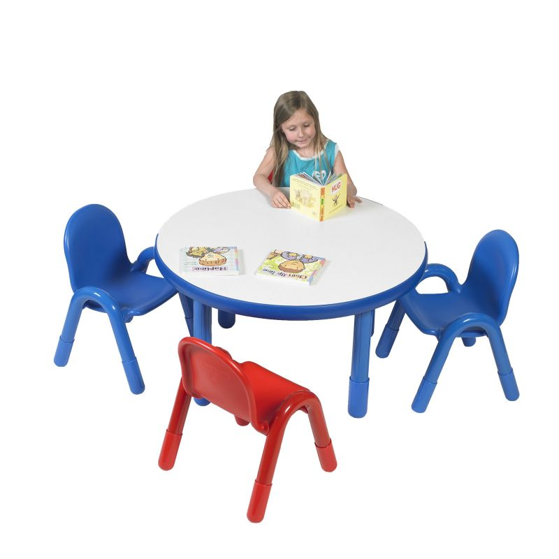 Baseline® Preschool 36″ Diameter Round Table & Chair Set – Royal Blue