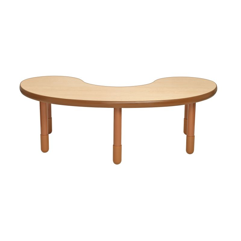Baseline® Teacher/Kidney Table – Natural Wood With 20″ Legs