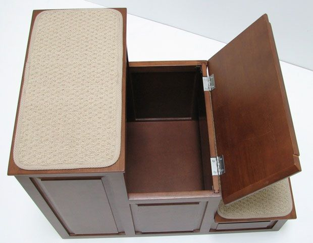 Crown Pet™ Pet Steps-3 with Storage: Mahogany