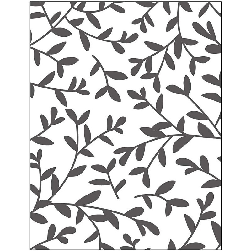 Creativ Company Embossing Folder, Sprouts, 11x14 Cm, 2 Mm, 1 Pc