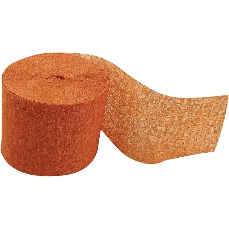 Creativ Company Crepe Paper Streamers, Orange, L: 20 M, W: 5 Cm, 20 Roll