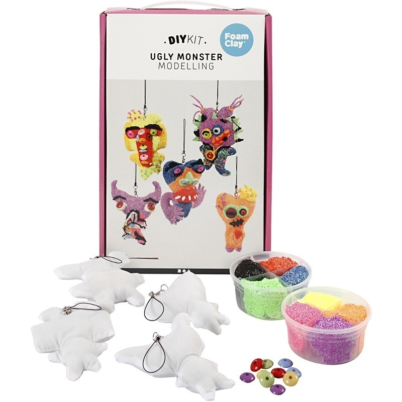 Foam Clay Ugly Monsters, 1 Set