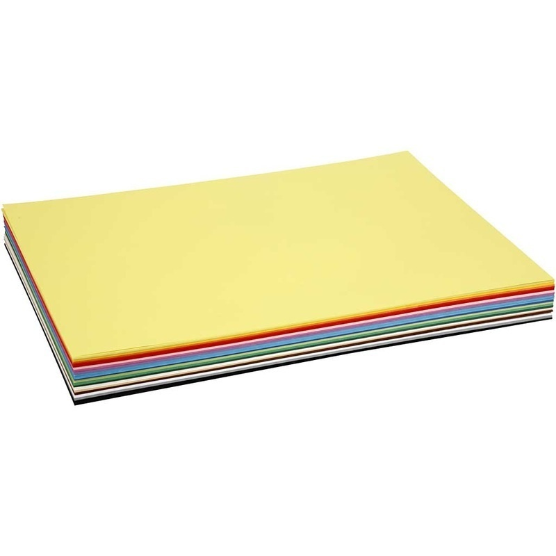 Colortime Creative Card, Assorted Colours, A2, 420x600 Mm, 180 G, 20 Ass Sheets