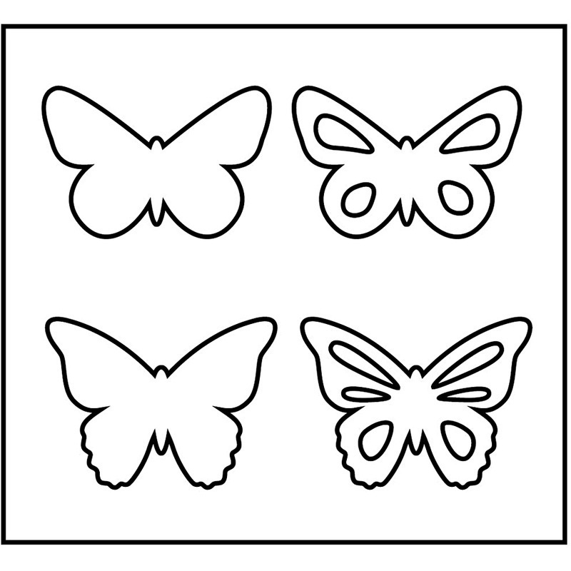 Creativ Company Steel Ruled Die, Butterfly, 14x15,25 Cm, 15 Mm, 1 Pc