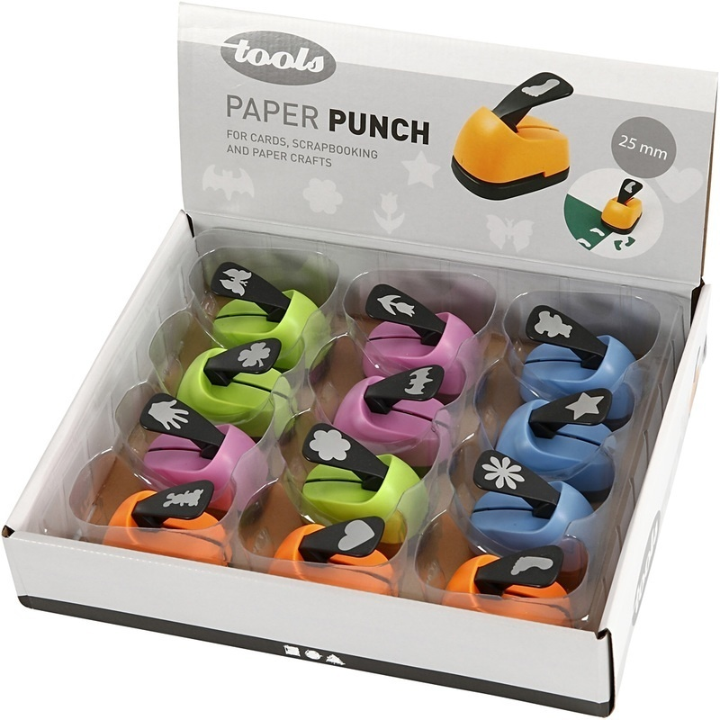 Creativ Company Paper Punches, Everyday Motives, 25 Mm, 12 Pc