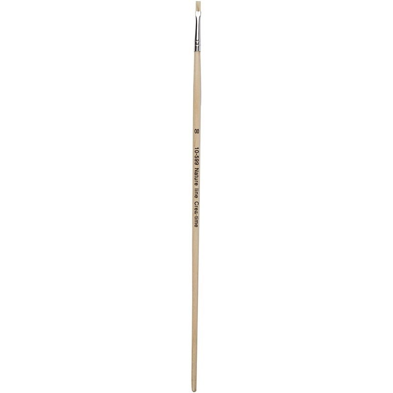 Creativ Company Nature Line Brushes, 00, W: 3 Mm, Long Handles, 12 Pc