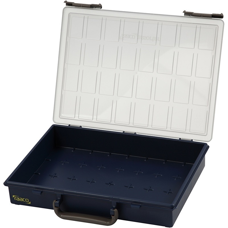 Raaco Storage Box, Without Removable Insert Boxes, 8 Cm, 33,8x26,1 Cm, 1 Pc