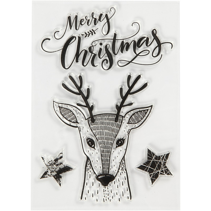 Creativ Company Silicone Motives, Reindeer, 10,5x15 Cm, 1 Sheet