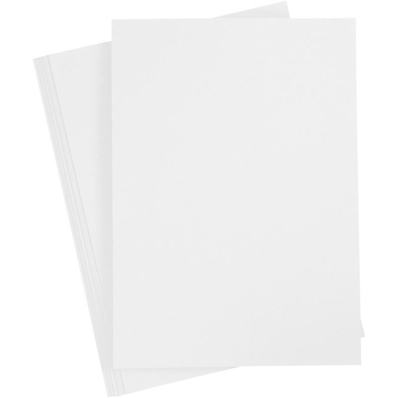 Creativ Company Card, White, A4, 210x297 Mm, 210-220 G, 10 Sheet, 1 Pack