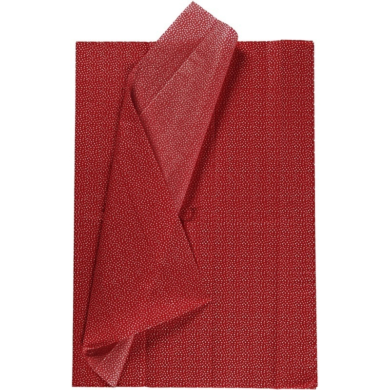 Creativ Company Tissue Paper, Red, 50x70 Cm, 17 G, 6 Sheet, 1 Pack