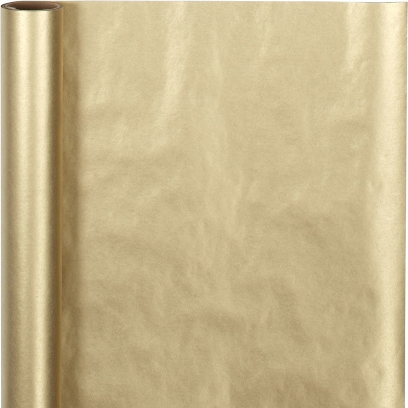 Creativ Company Wrapping Paper, Gold, W: 50 Cm, 60 G, 5 M, 1 Roll