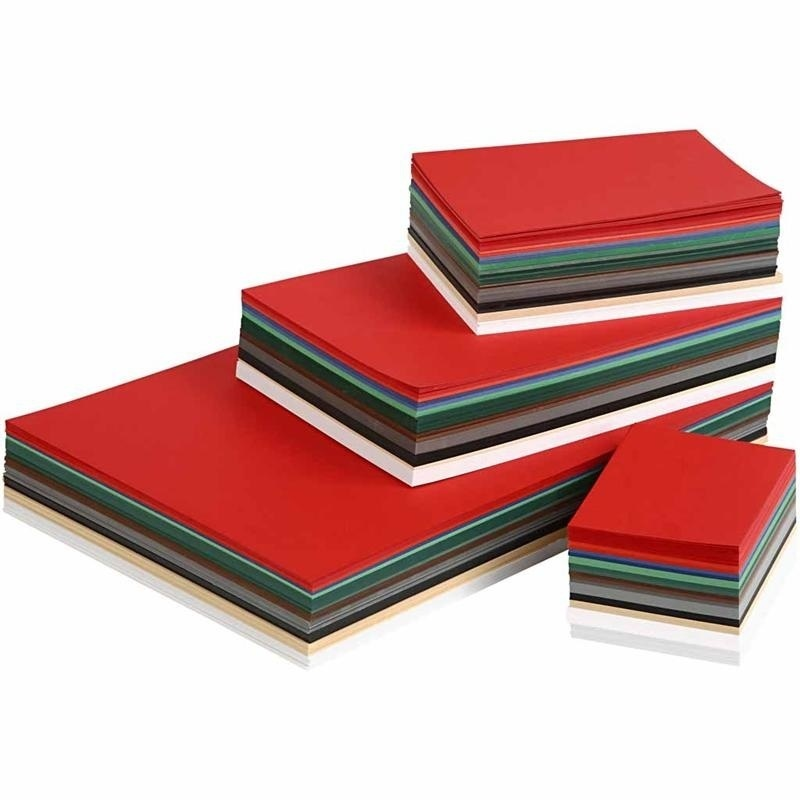 Colortime Christmas Card, Assorted Colours, A3,a4,a5,a6, 180 G, 1500 Ass Sheets
