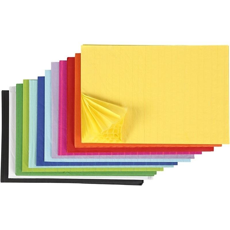 Creativ Company Honeycomb Paper, Assorted Colours, 28x17,8 Cm, 72 Pc