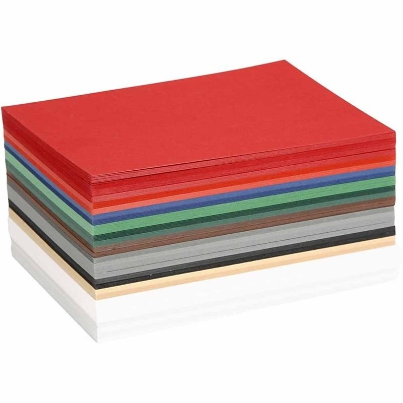 Colortime Christmas Card, Assorted Colours, A6, 105x148 Mm, 180 G, 300 Ass Sheets
