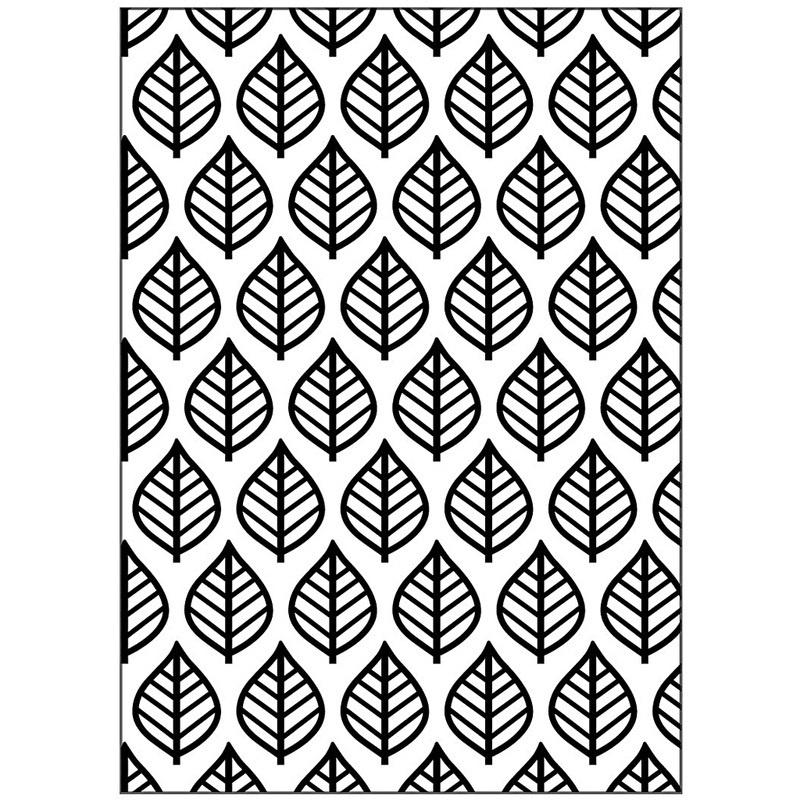 Creativ Company Embossing Folder, Leaf, 13x18,5 Cm, 2 Mm, 1 Pc