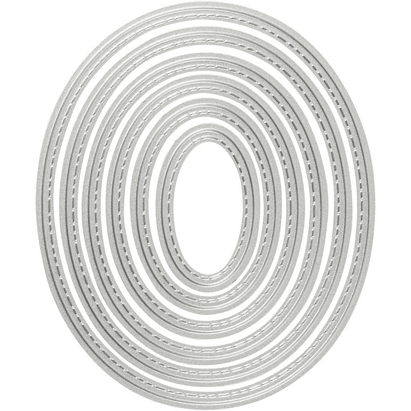 Creativ Company Die Cut And Embossing Folder, Oval, 5x3-12x10 Cm, 1 Pc