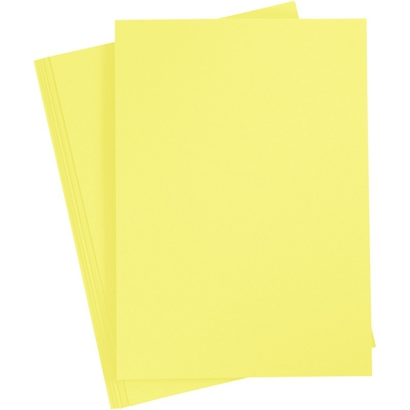 Paper Concept Card, Canary Yellow, A4, 210x297 Mm, 180 G, 20 Sheet, 1 Pack