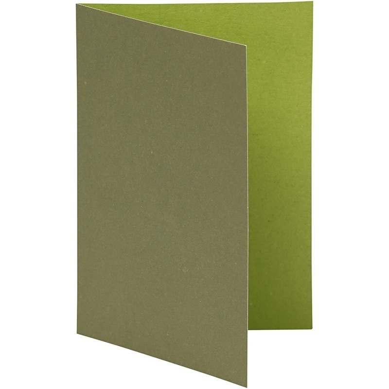Happy Moments Cards, Lime Green/dark Green, 10,5x15 Cm, 250 G, 10 Pc