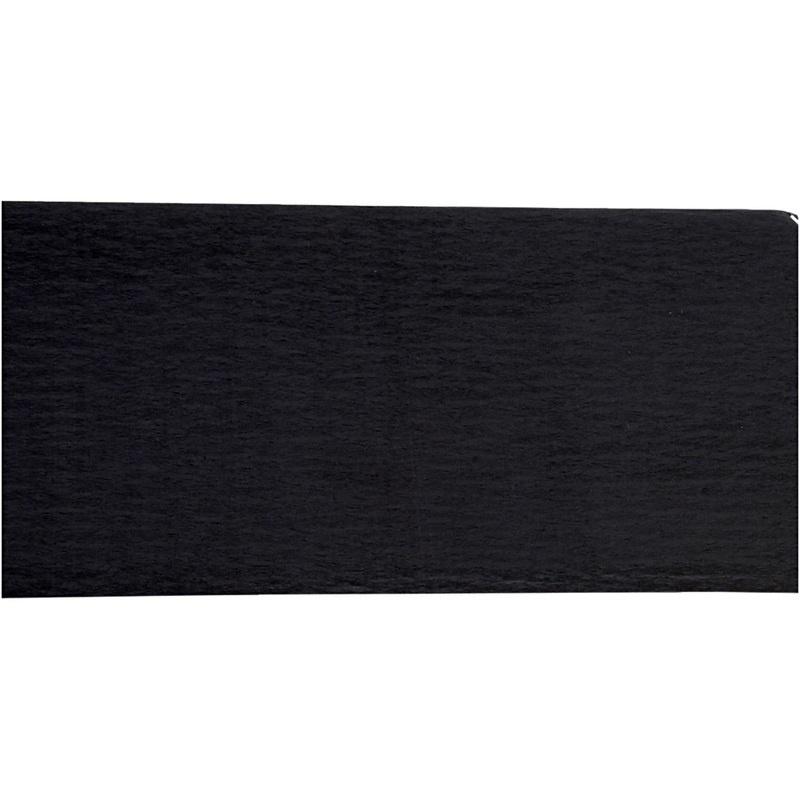 Creativ Company Crepe Paper, Black, 50x250 Cm, 10 Pleats
