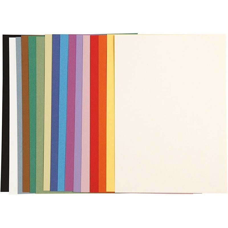 Mi-teintes French Card, Assorted Colours, A4, 210x297 Mm, 160 G, 16 Ass Sheets