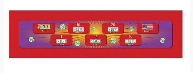 Prize Wheel Layout - Money Wheel - 15 Inch X 48 Inch