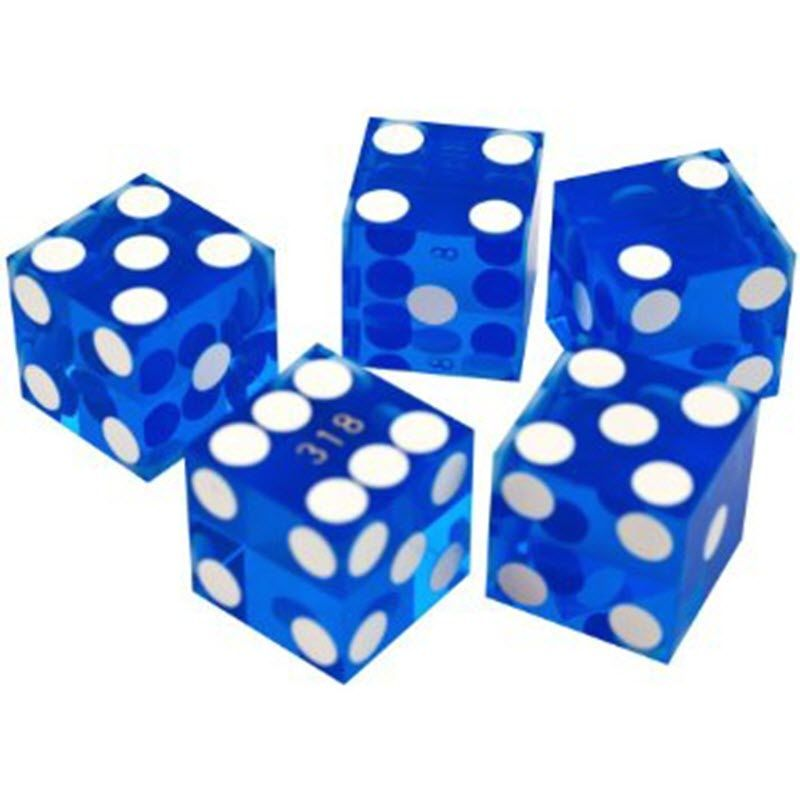 New Casino Dice Serialized 3/4 Inch - Set Of 5