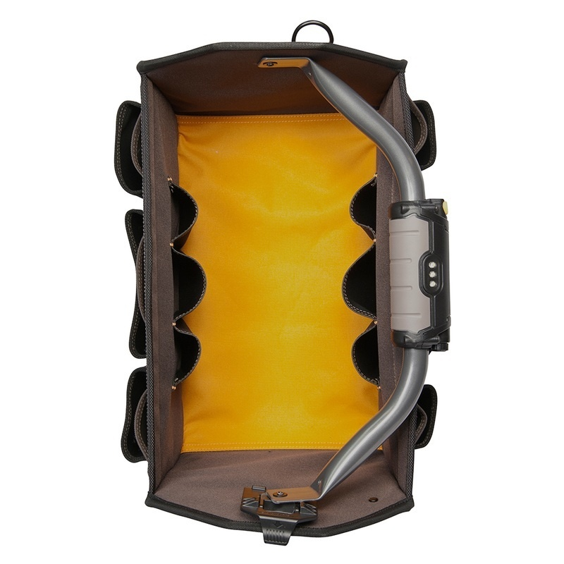 """Clc L234 Tech Gear Led Lighted Handle 15"""" Open Top Tool Carrier"""