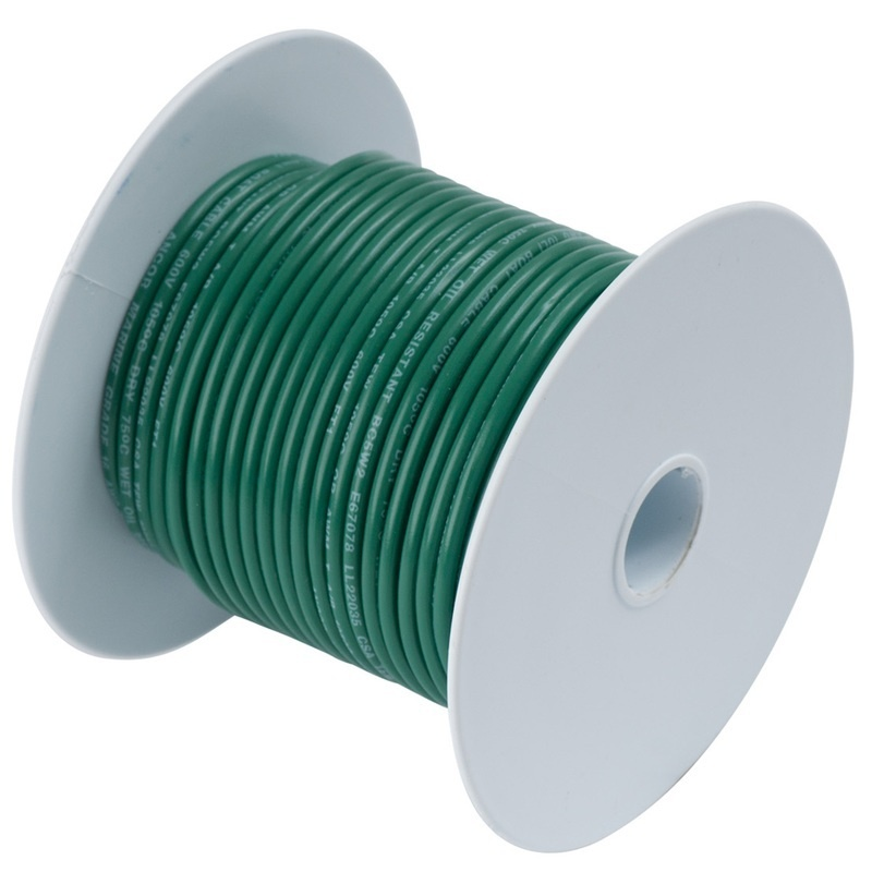 Ancor Green 18 Awg Tinned Copper Wire - 500'