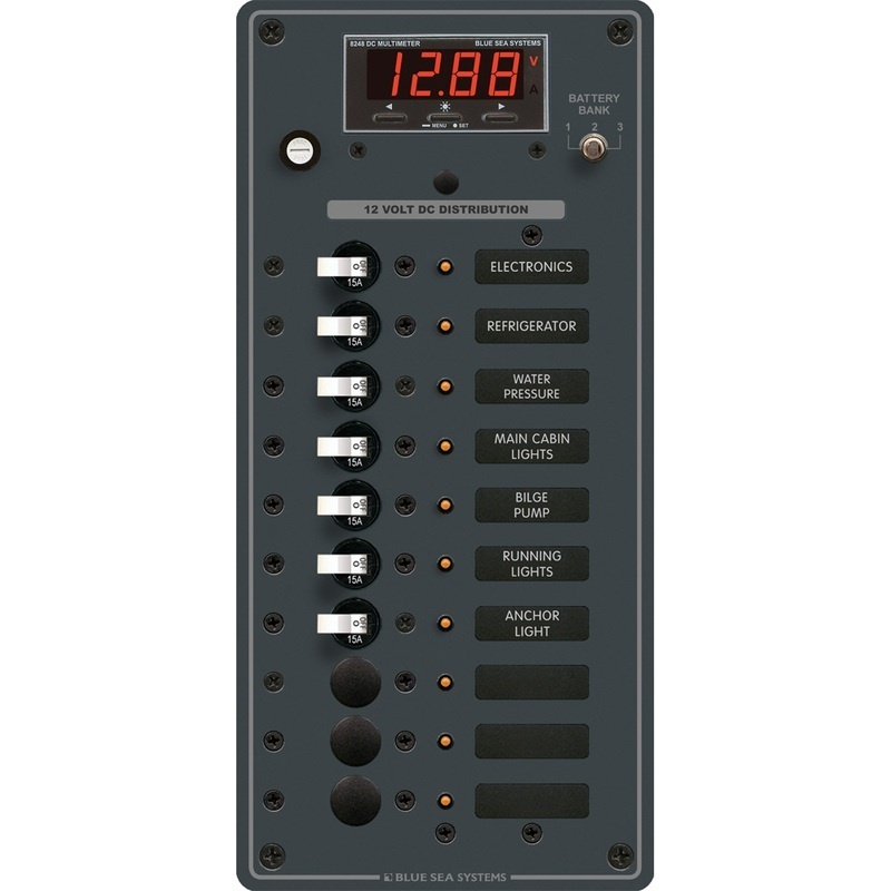 Blue Sea 8402 Dc 10 Position W/multi-function Meter