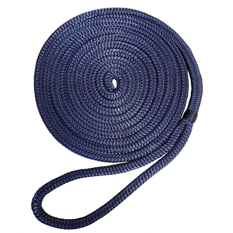 """Robline Premium Nylon Double Braid Dock Line - 1/2"""" X 35' - Navy Blue"""