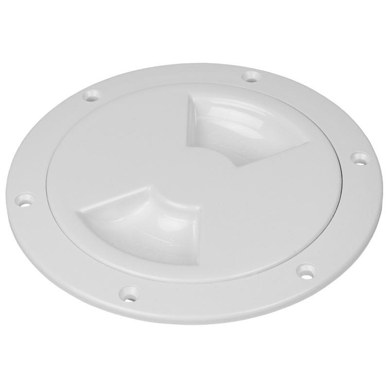 "Sea-dog Quarter-turn Smooth Deck Plate W/internal Collar - White - 4"""