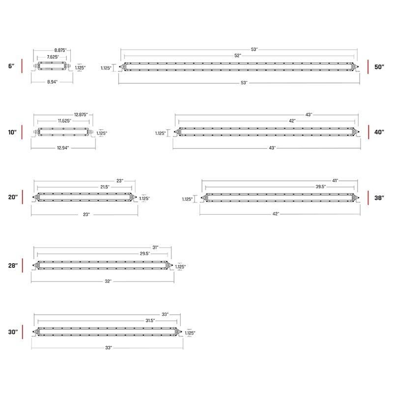 """Rigid Industries Sr-series Pro 10"""" Spot/drive Combo - Black"""