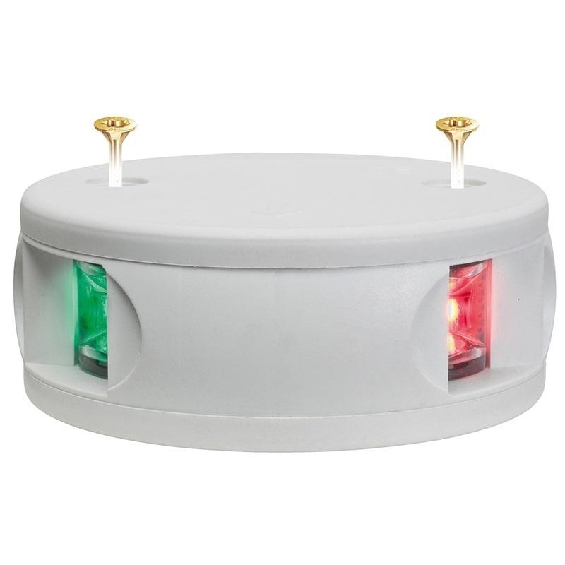 Aqua Signal Series 34 Bi-color Deck Mount Light - White Housing