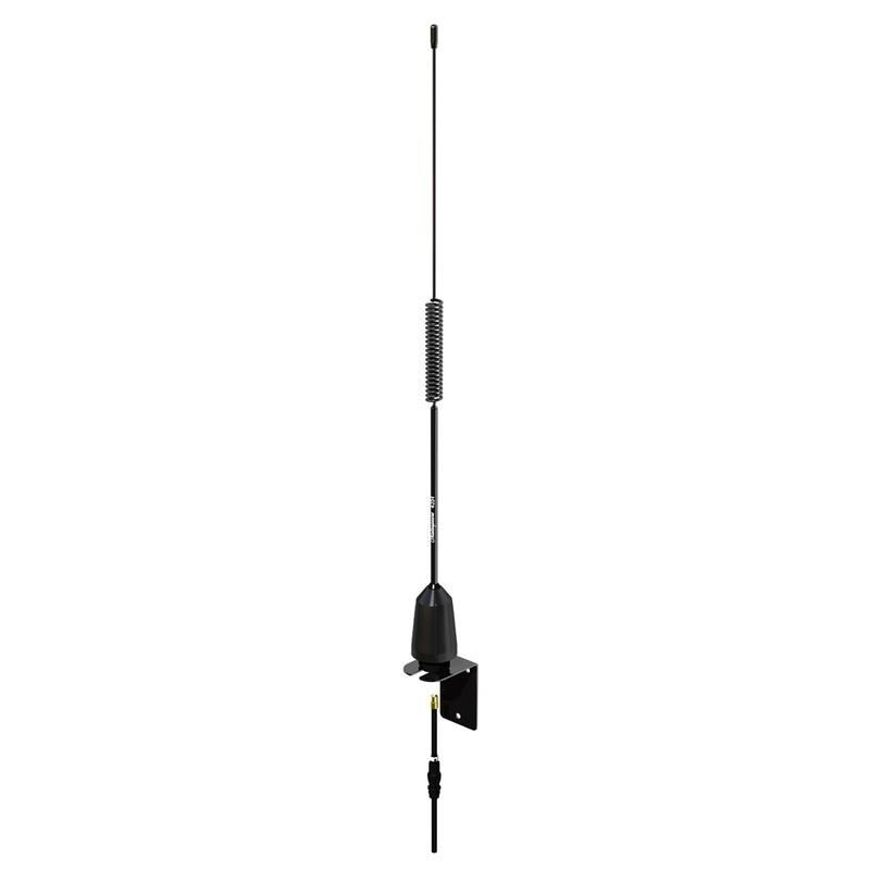 Shakespeare Am/fm Low Profile Stainless Whip - 2' - Black