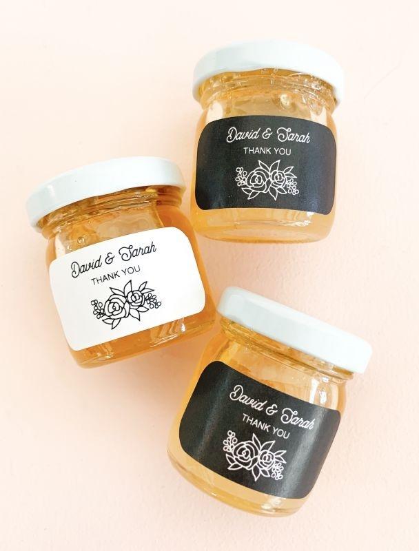 Floral Silhouette Honey Jars