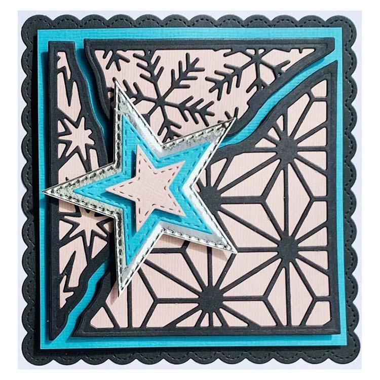 Creative Expressions Broken Tiles Collection Wintry Skies Craft Die