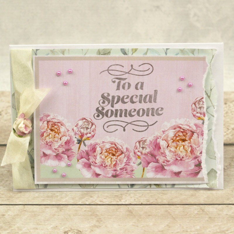 Couture Creations Peaceful Peonies Mini Stamp Special Someone