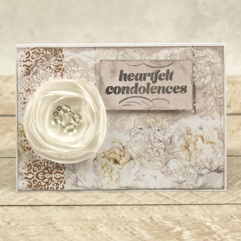 Couture Creations Peaceful Peonies Hotfoil Stamp Lacey Border