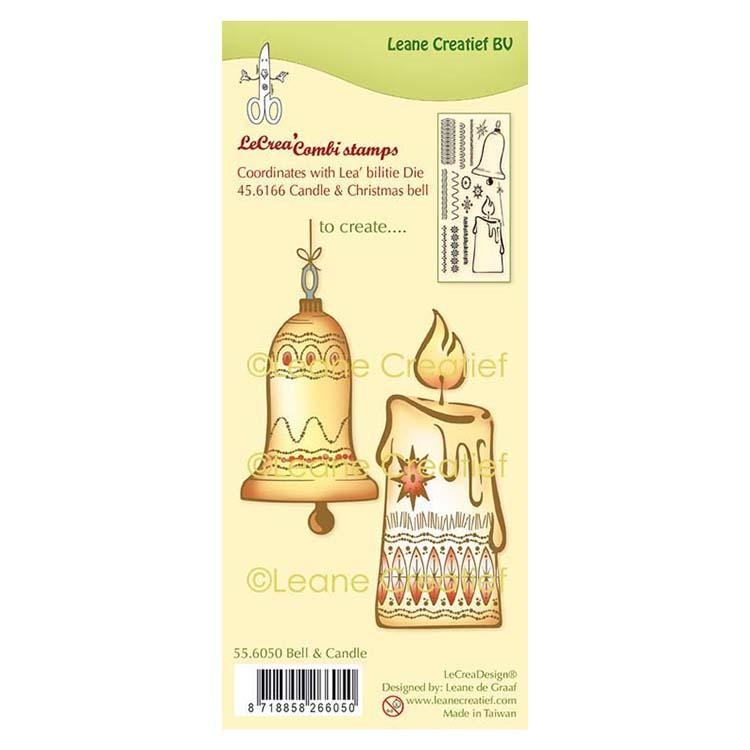 Lecreadesign Combi Clear Stamp Christmas Bell & Candle