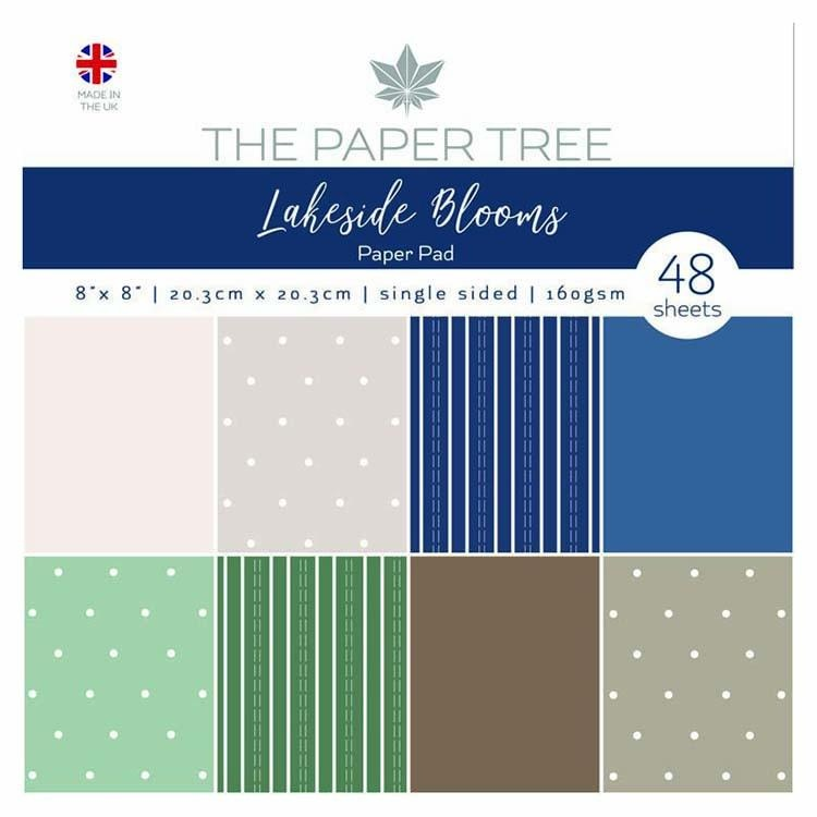 """The Paper Tree Lakeside Blooms 8"""" X 8"""" Essentials Paper Pad"""